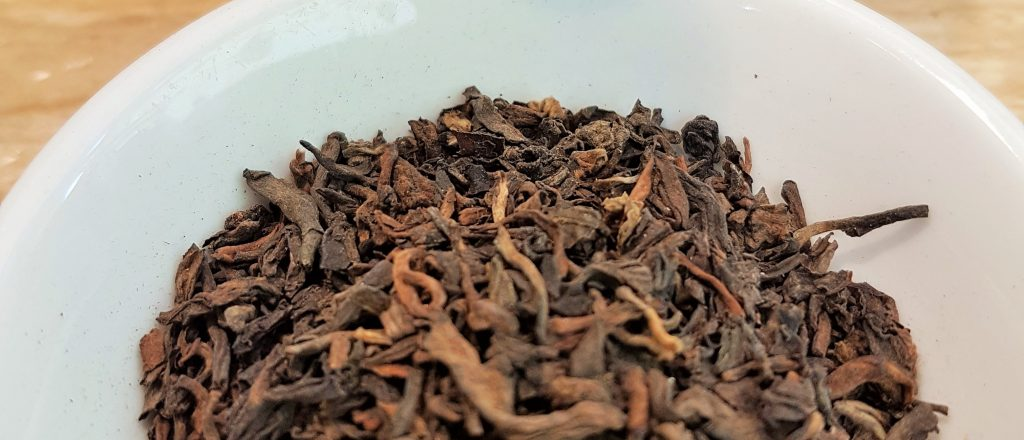 Close up of pu-erh superior