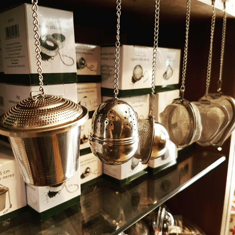 display of different infusers
