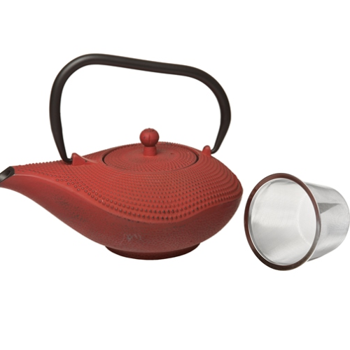 Cast Iron Teapot Red 0.95L