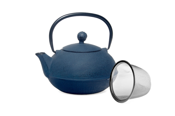 Cast Iron Teapot Blue 0.9L