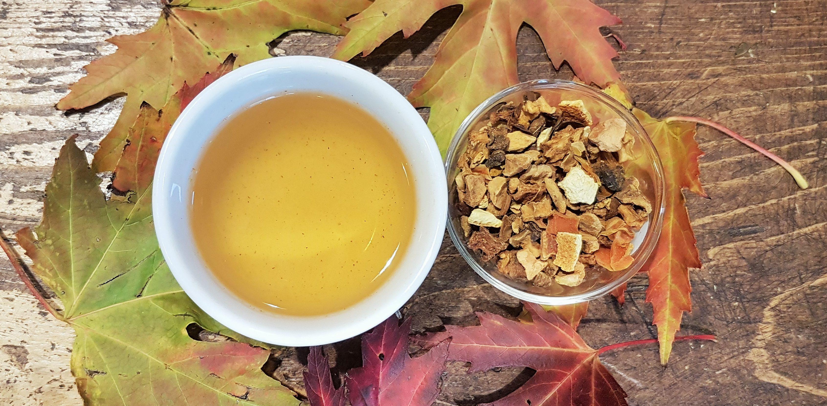 pumpkin and turmeric fruit tea