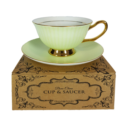 Duchess Cup and Saucer on top of gift box