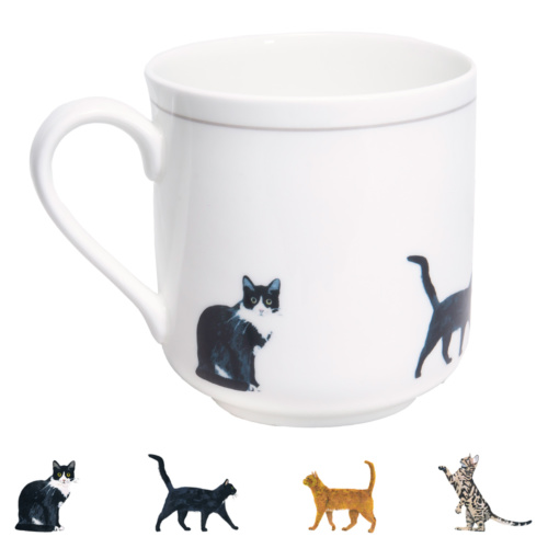 Cats Bone China Mug