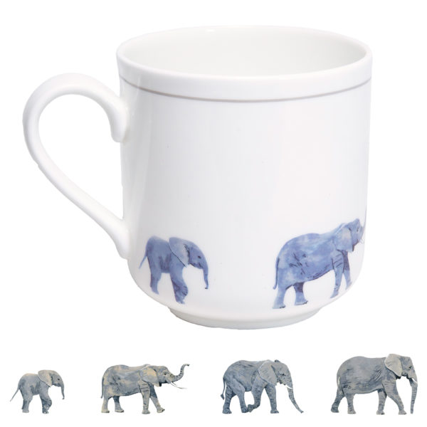 Elephants Bone China Mug