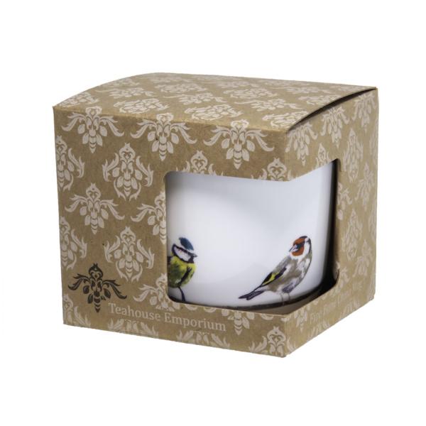 Garden Birds bone china mug in gift box