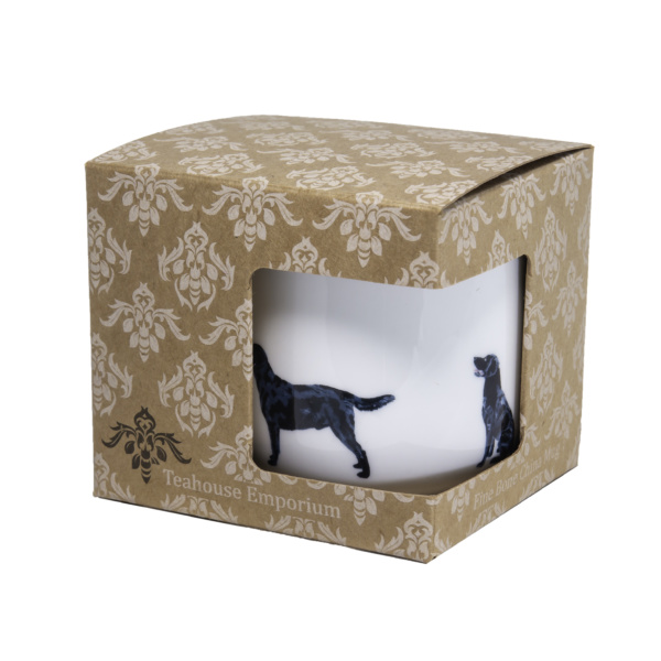 Black Labrador Bone China Mug in gift box