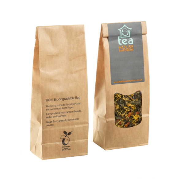 Biodegradable Kraft Paper Bags Filled
