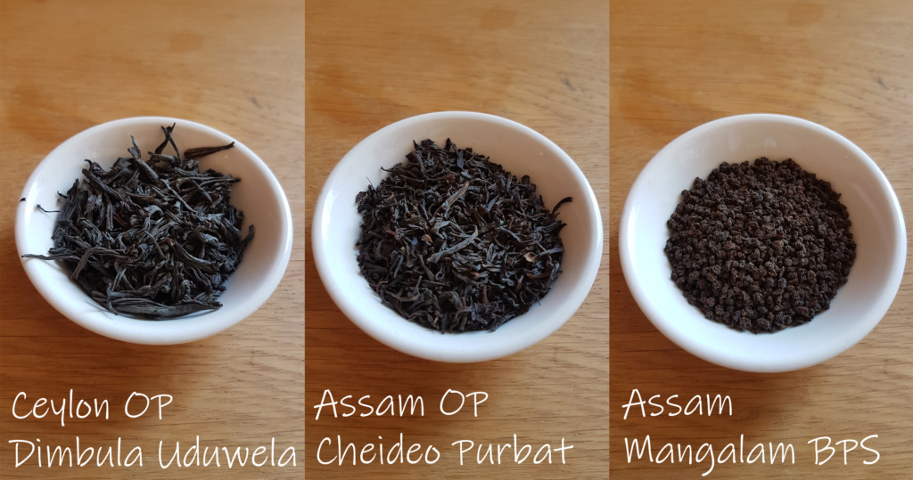 Example of Orange Pekeo tea vs CTC tea